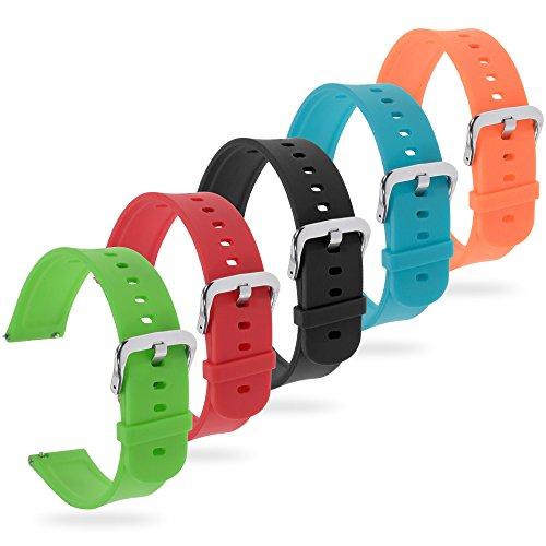 Zacro Kit Braccialetto di Ricambio di Cinturino per Orologio Xiaomi Huami Amazfit Bip Bit Youth Impermeabile in Silicone 20mm Smartwatch Bracciale Set di 5