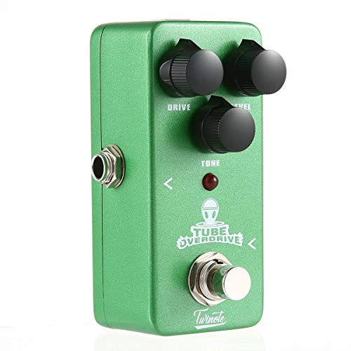 OOOUSE Bass Guitar Effects Pedal, Classical Electronic Overdrive/Distortion/Chorus/Digital Delay Effects Pedal Mini Vintage Electric Guitar with Knobs Accessories