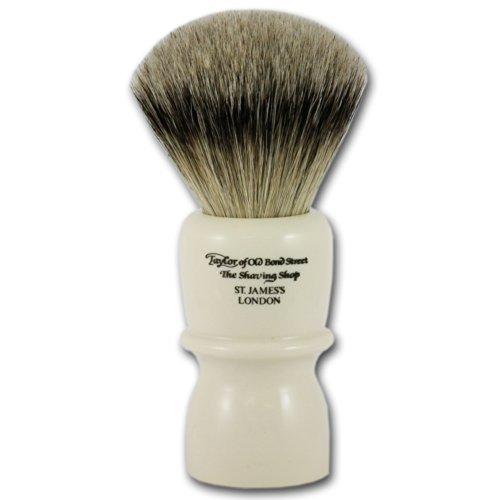 Taylor of Old Bond Street poils de blaireau argentés Silvertip Blaireau de rasage avec poignée extra large imitation ivoire