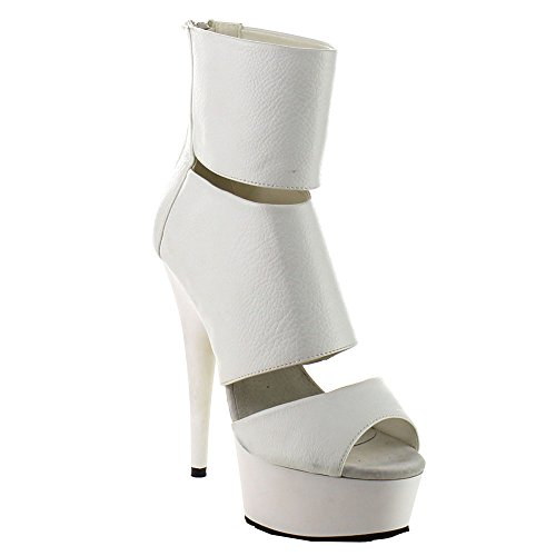 Delight-600-16 Wht Faux Leather/Wht