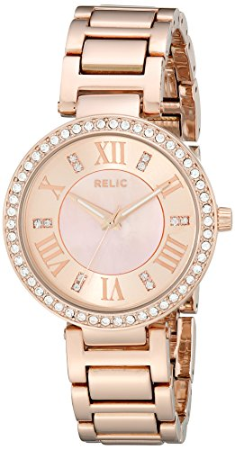 Reliquia de la Mujer zr34308Isabelle Rose Gold-Tone Reloj de Acero Inoxidable con Cristales