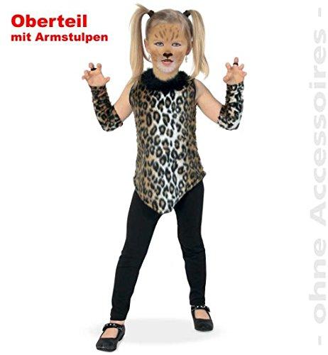 ka 140 Kätzchen-Kleid Mädchen 3tlg Tier Kinder-Kostüm mit Stulpen Plüsch ()