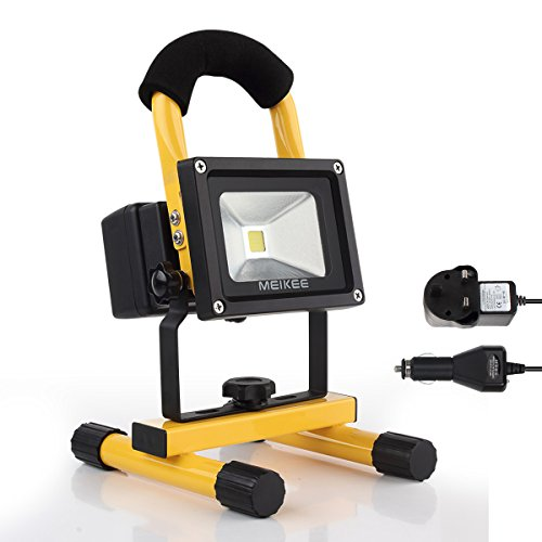 Meikee 10w rechargeable led work light portable security lights meikee 10w rechargeable led work light portable security lights camping outdoor flood light removable batterypower bank outdoor lighting plug and car aloadofball Images