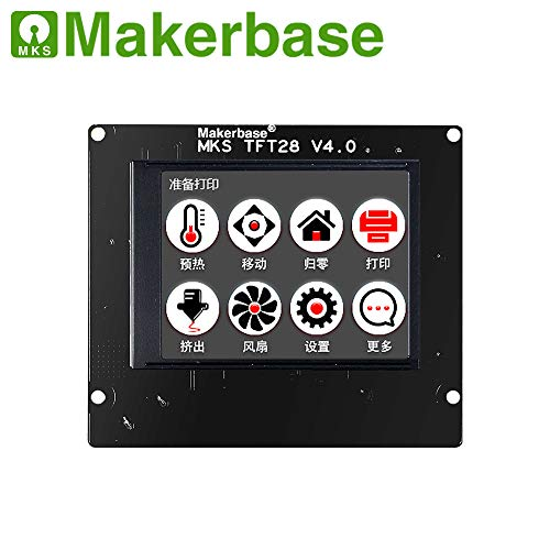 MKS TFT28 V4.0 Controller Display 2.8 Zoll Touchscreen Screen LCD For RepRap Marlin Repetier Smoothieware 3D Drucker With SD Slot Compatible with Ramp1.4 - Lcd-display-controller