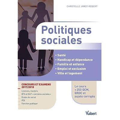 Politiques sociales - Concours et examens 2017/2018
