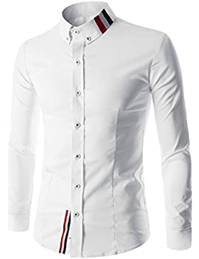 Haroty Uomo Camicie Manica Lunga Stampate Moda Slim Fit Casual Men Shirts Personalizzati Fashion