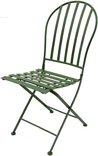 Chaise pliante vert ancien H88 x B40 x T44 cm