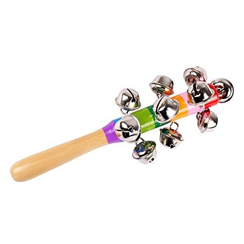 WDOIT 1 Stuck Baby Hand Bells Woody Rainbow Radaufhängung Glocken Kinder Holz Spielzeug