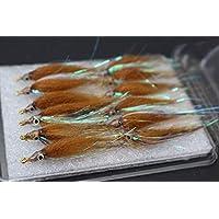 Lakeland Fishing Supplies 3 6 oder 12 x Blaue K/öder Trout Fliegen f/ür Fliegenangeln