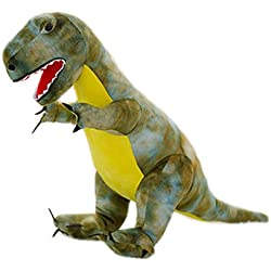 Simulación Animales de peluche dinosaurios y juguetes de peluche para niños (T-Rex Verde 80cm)