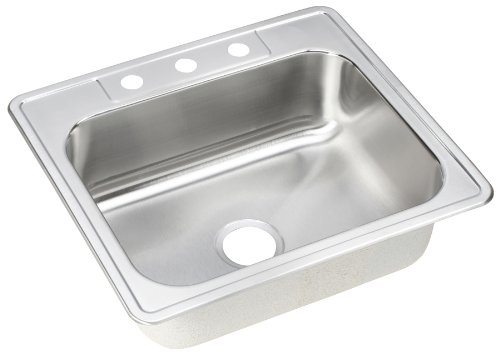 ELKAY dse125223Dayton Elite 25-inch da 22ciotola da lavello cucina vasca singola in acciaio inox, finitura satinata