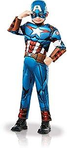 Rubies 640833M Marvel Avengers Capitán América Deluxe - Disfraz infantil para niño, talla M