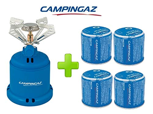 ALTIGASI Réchaud à gaz Camping 206 S Stove Camping Puissance 1,230 W - Poids 280 grammes + 4 pièces Cartouche C206 GLS de 190 grammes