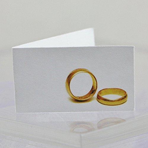 Il Villaggio Degli Sposi 20 Bigliettini Bomboniera Matrimonio Con Fedi
