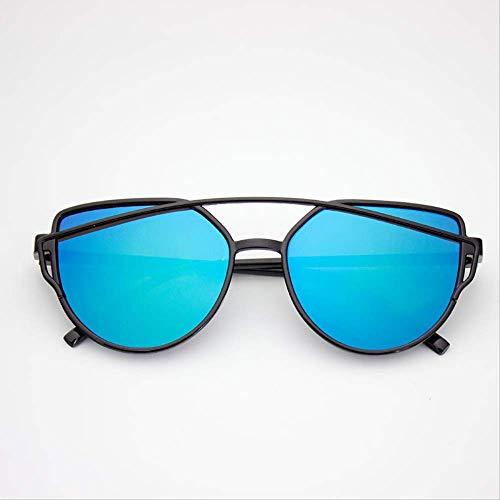 ZHAS Sonnenbrillen Modische Sonnenbrillen Damen Sonnenbrille mit Zwei Strahlen Weibliche Retro-Beschichtung Spiegelgläser Sonnenbrillen mit Flachbildschirmen sind aus hochwertigen Materialien für