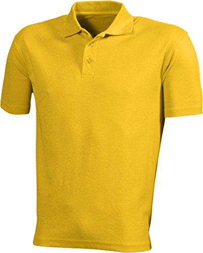 James & Nicholson Herren Poloshirt Function Polo Gelb (Gold-Yellow)