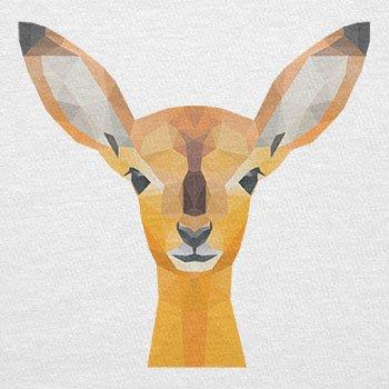TEXLAB - Poly Oh my Deer - Herren Langarm T-Shirt Weiß
