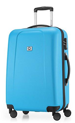 HAUPTSTADTKOFFER - Wedding -  Valigia Trolley rigido ABS TSA 4 ruote, 65 cm, 67 litri, Blu Ciano