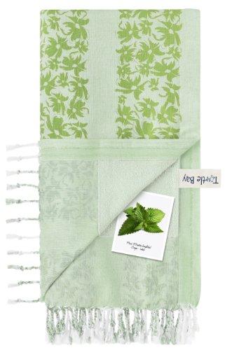 turtle-bay-drap-de-plage-pareo-serviette-de-bain-kikoy-towel-hawaiian-stripe-couleur-minty-green-spr