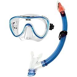 Seac Set Salina, Masque Salina et Tuba avec purge, Kit de Randonnée Aquatique, Unisex Adulte Plongée, Snorkeling, Natation