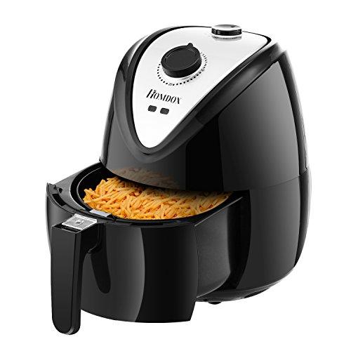 Meykey Heißluftfritteuse Airfryer Fettfrei frittieren ohne ÖL Heißluft Actifry 1400W 4.5L Schwarz