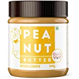 The Snack Story Natural Peanut Butter, Smooth (Unsweetened), 340g
