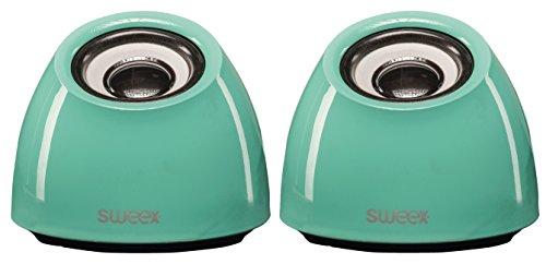 Sweex USB Design Lautsprecher System für Pc Computer Laptop Notebook Gamer Gaming Box Boxen Lautsprechersystem grün türkis