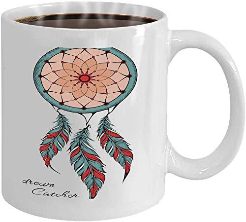Rael Esthe Taza de café Taza de Regalo Atrapasueños Amuleto entintado