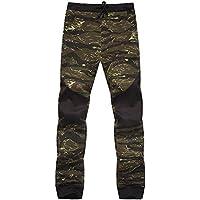 Cebbay Liquidación Pantalones Casuales para Hombres Costura de Camuflaje Delgado Largo Pantalones de Viento Urbano