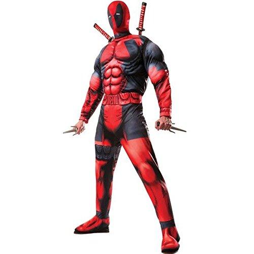 Imagen de disfraz de deadpool marvel para hombre  único, m