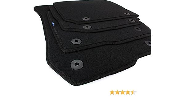 Kfzpremiumteile24 Fußmatten Velours Automatten Premium Qualität Stoffmatten 4 Teilig Schwarz Auto