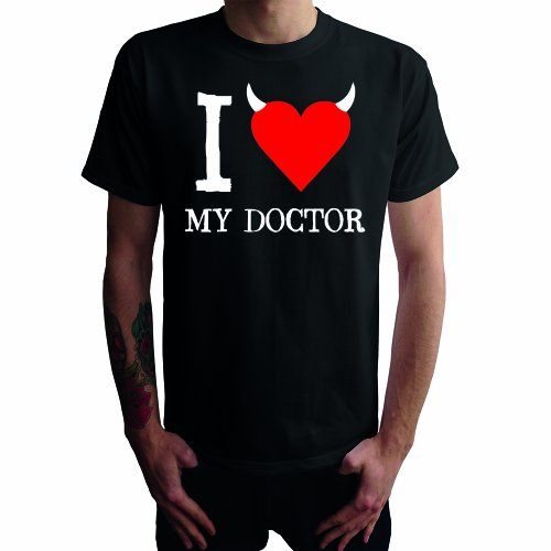 I don't love my Doctor Herren T-Shirt Schwarz