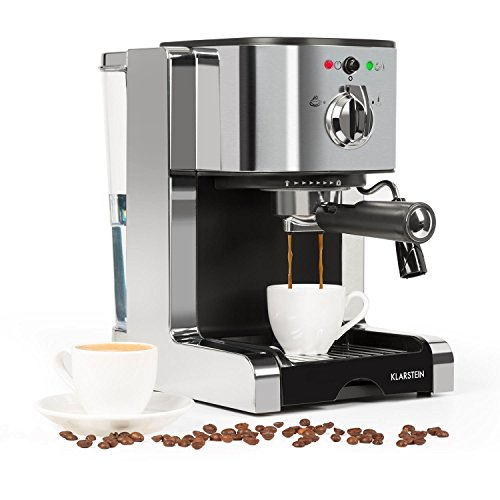 Klarstein Passionata Espresso Machine • 20 Bar • Capuccino • Milk Foam • 1350W • Stylish Design for Modern Kitchens • Steam Nozzle for Frothing Milk and Preparing Hot Drinks 41mF8MhZlPL