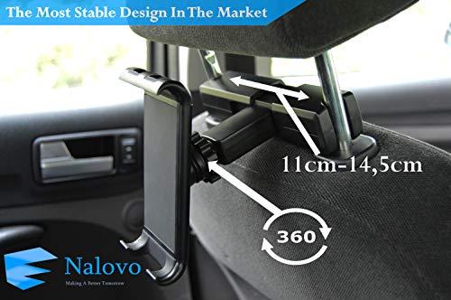 Tablet Halterung kopfstütze Stabil Auto für 4-11 Zoll by Nalovo Ipad Galaxy Tab Nintendo Switch iPhone Smatphone