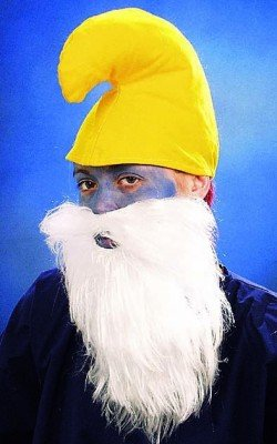 Wichtel-Set: gelbe Mütze und weißer Bart