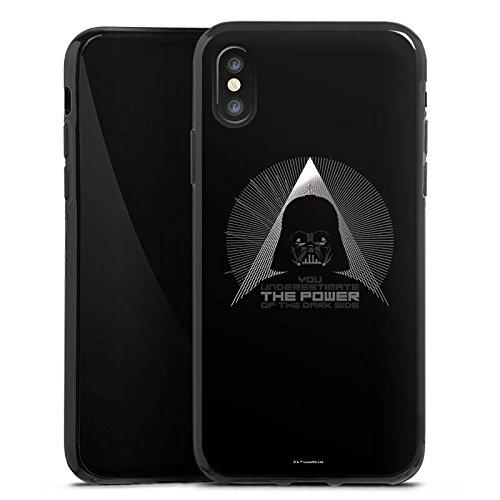 Apple iPhone X Silikon Hülle Case Schutzhülle Star Wars Fanartikel Zubehör Darth Vader Silikon Case schwarz