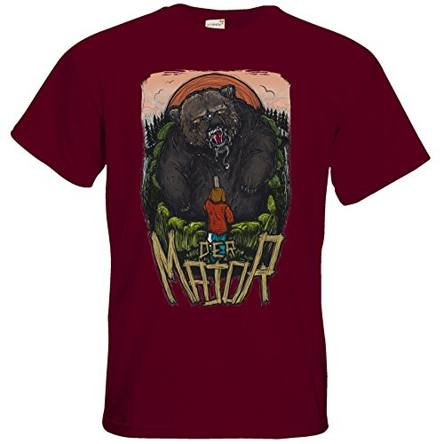 getshirts - Staiys Haute Couture - T-Shirt - der Major Burgundy