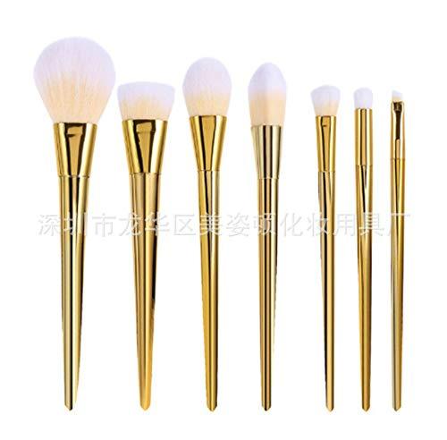 7 l'or rose du diamant balais brosses à cosmétiques professionnel de haute qualité esthétique cosmétique voyage brosses mis dons,golden