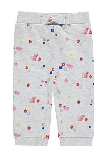 TOM TAILOR Kids Baby-Mädchen Jogging Pants Patterned Jogginghose, Beige (Lunar Rock Melange 8439), (Herstellergröße: 62)