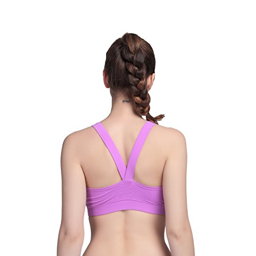 Femme Soutien Gorge de Yoga Sports Workout Fitness V back Violet