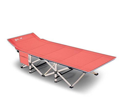 JFJL Portable Klappreisebett - Camping Outdoor Wandern Rv Oder Schule Kind Kindertagesstätte - 6,2 Zoll Lang - Enthält Reisetasche,Orange