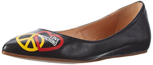 Love Moschino, Ballerine Donna, Nero (Black 000), 40 EU