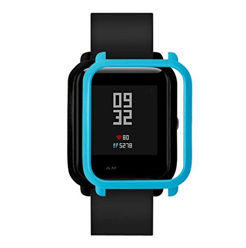 Foto de Malloom Ultra-delgada marco caso PC cubierta proteger Shell funda para xiaomi huami amazfit bip smartwatch (Azul)