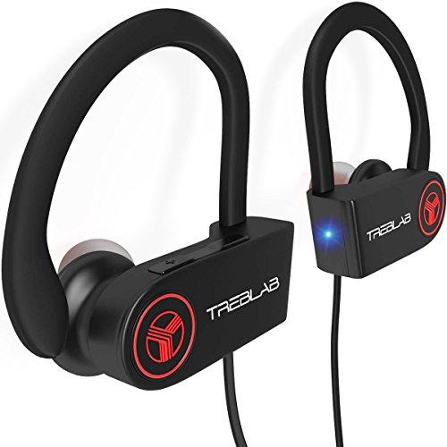 TREBLAB XR100 Bluetooth Sport Kopfhörer, beste drahtlose Ohrhörer für das Training, geräuschunterdrückendes, schweißfestes, schnurloses Headset für Sport & Fitness, True Beats Kopfhörer mit Mikrofon, iPhone Android (Beats-kopfhörer Mit Mikrofon)
