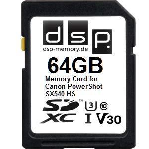 64GB Professional Größe V30 Speicherkarte für Canon PowerShot SX540 HS - Canon Speicherkarte Powershot