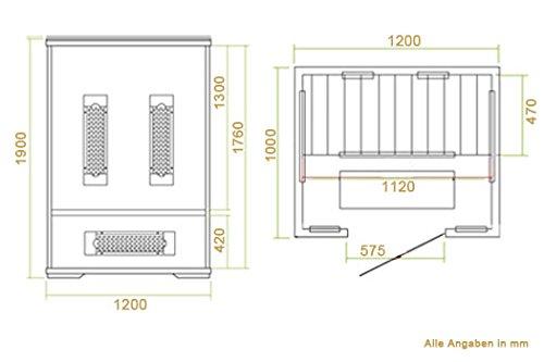 Infrarotkabine Oslo Dual-Heizsystem & Hemlockholz | Infrarotsauna für 1 Person | ArtSauna - 6