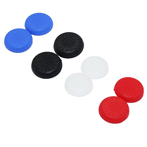 Traders Gray : 10pcs For PS4 for XBOX 360 Controller Rubber Silicone Cap Thumbstick Analog Cover Case Skin Joystick Grip Thumb Stick