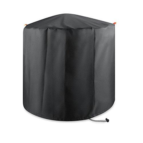 Cubierta de barbacoa Gofriend redonda, impermeable, resistente, protección contra el polvo y la lluvia, de tejido Oxford transpirable 210D, con bolsa de almacenamiento, 80 x 59 cm