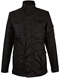 Mens Black Military Style Utility Coat Jacket Blazer s m l xl 2xl