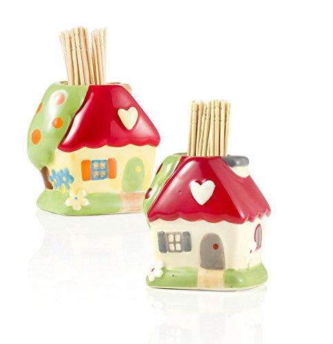 Casina portastuzzicadenti-portastecchini ceramica Montemaggi